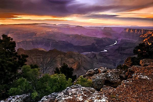 Bob and Nadine Johnston - Sunset at Desert View