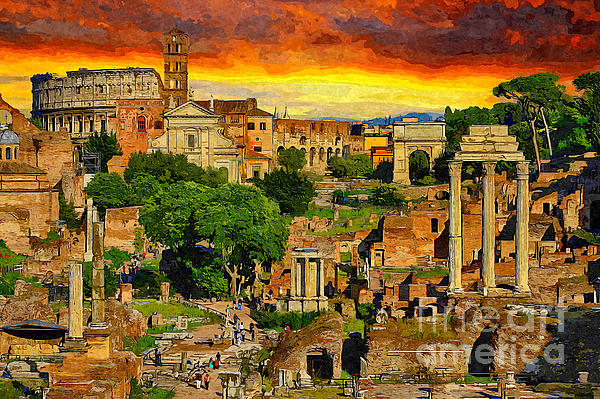 Stefano Senise - Sunset in Rome