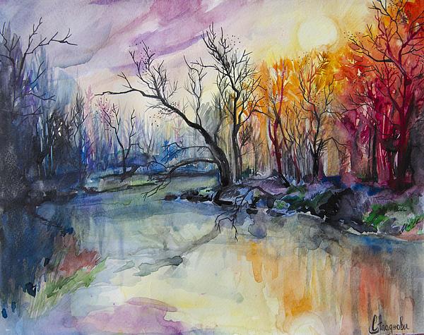 Slaveika Aladjova - Sunset In The Forest
