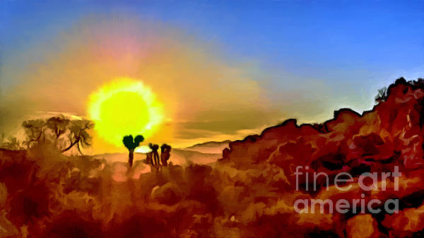 Bob and Nadine Johnston - Sunset Joshua Tree National Park V2