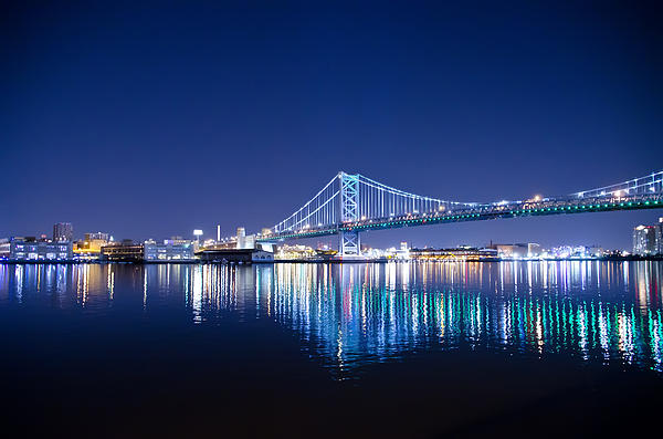 Bill Cannon - The Benjamin Franklin Bridge at Night