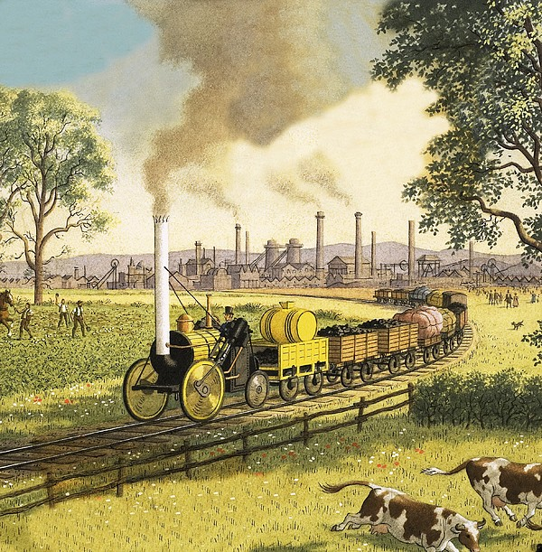 The Industrial Revolution Greeting Card for Sale by Ronald Lampitt