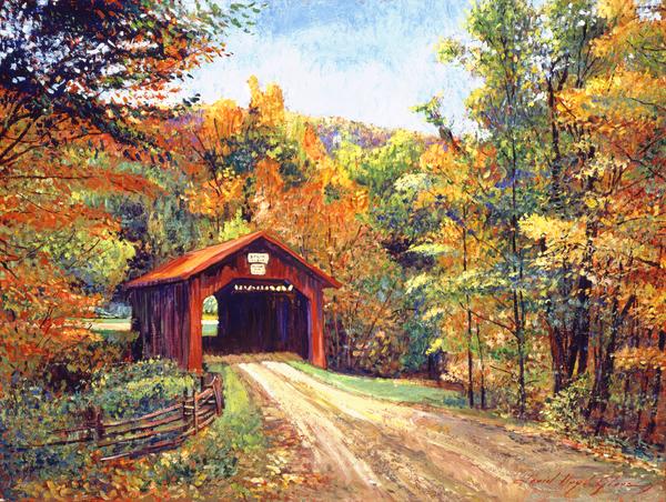 David Lloyd Glover - The Red Covered Bridge