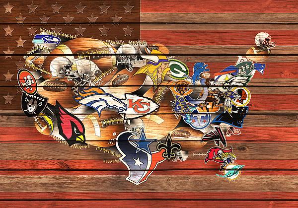 Bekim Art - Usa Nfl Map Collage 10
