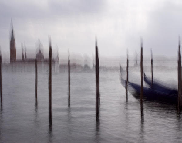Artecco Fine Art Photography - Abstract Black And White Blue Venice Italy Photography Art Work