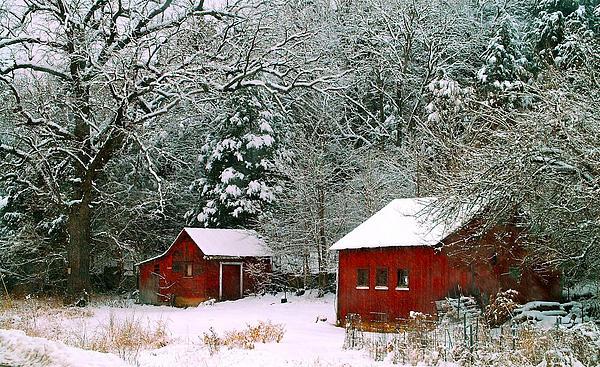 Peggy Franz - Vintage Winter Barn