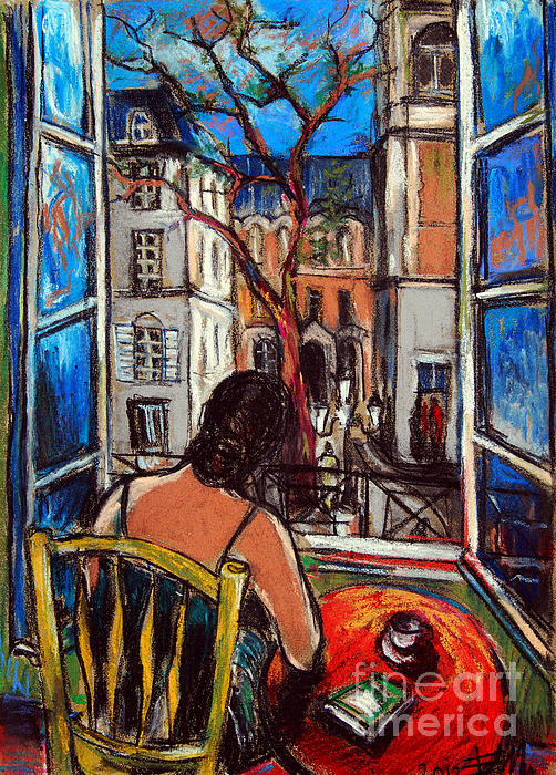 Mona Edulesco - Woman At Window