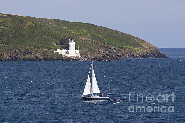 Terri Waters - Yachting Past St Anthony Head Cornwall