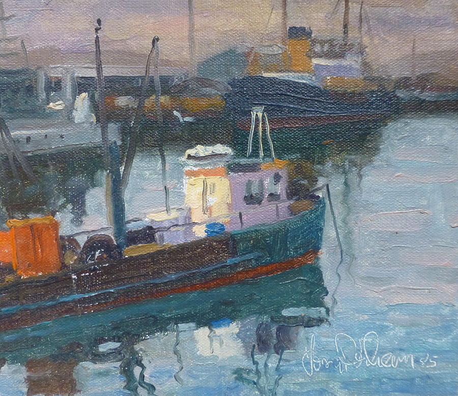 Harbours Painting -                          Lyttleton Nz by Terry Perham