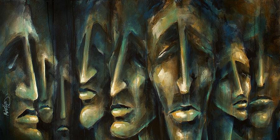 Expressionist Painting -   Jury of Eight  by Michael Lang