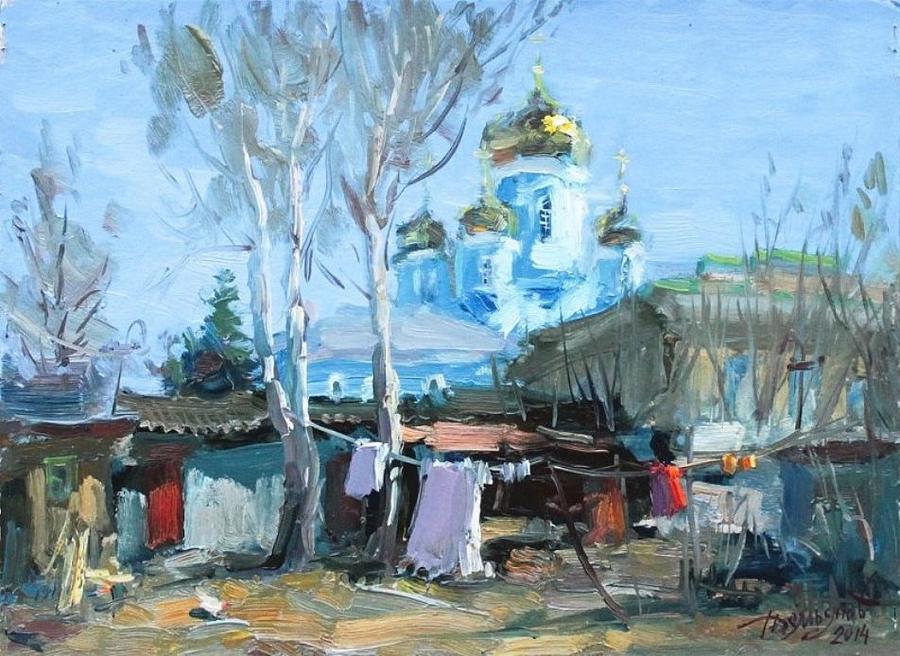 Zadonsk Patio Painting By Yuri Demyanov - Patio painting