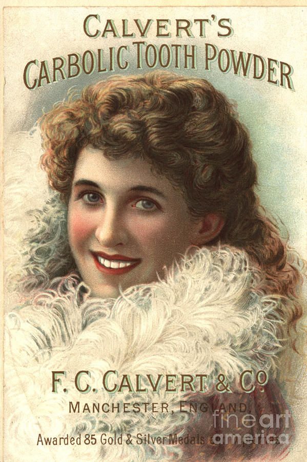 Nineteenth Century Drawing -  1890s Uk Calvert Toothpaste by The Advertising Archives