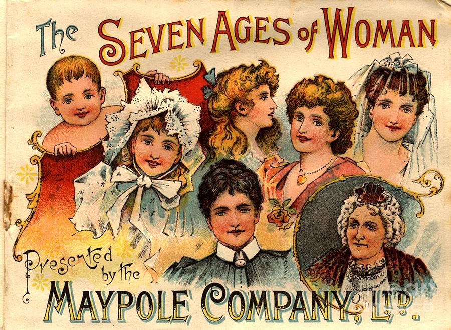 1890�s Drawing -  1890s Uk Maypole Ageing The Seven Ages by The Advertising Archives