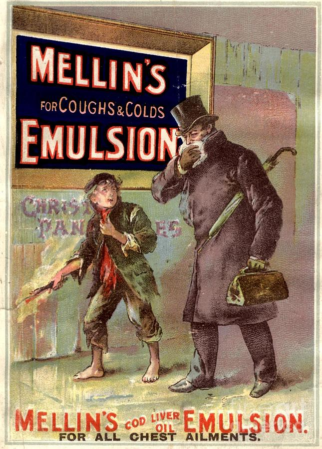 1890�s Drawing -  1890s Uk Mellin�s Emulsion Coughs by The Advertising Archives