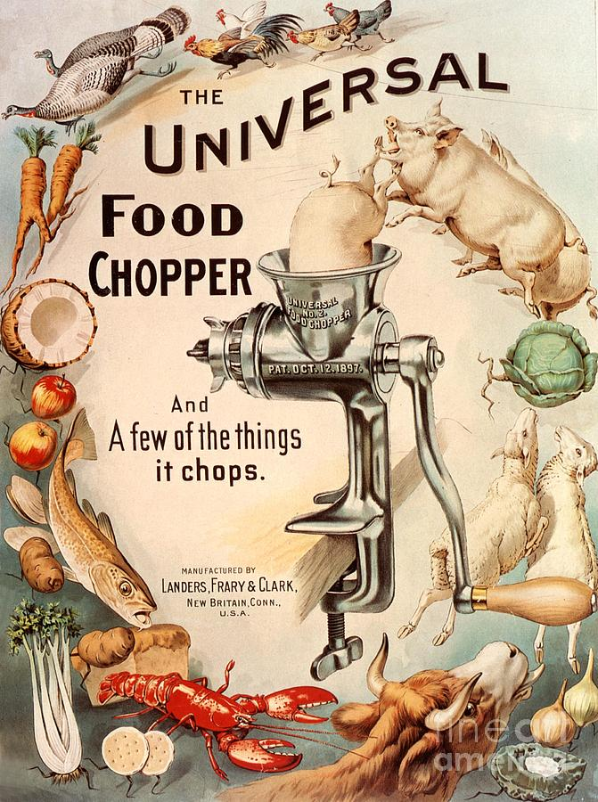 1890s Drawing -  1899 1890s Usa Food Choppers Mincers by The Advertising Archives