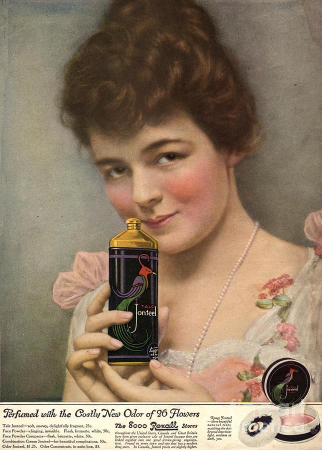1910s Drawing -  1910s Usa Talc Talcum Powder Jonteel by The Advertising Archives
