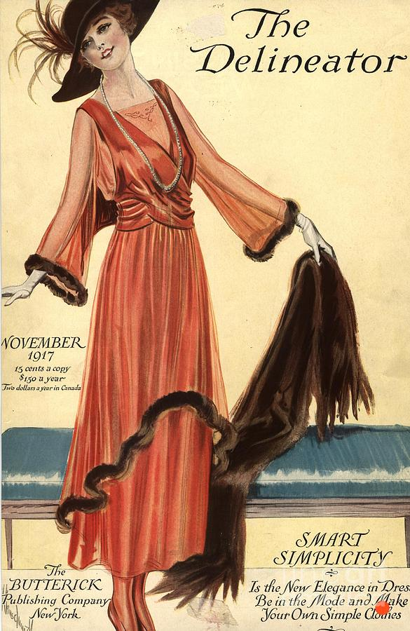1910s Drawing -  1910s Usa Womens Magazines Clothing by The Advertising Archives