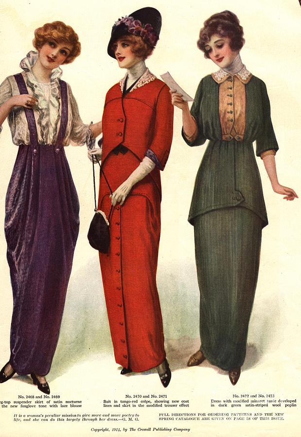 1910s Drawing -  1910s Usa Womens by The Advertising Archives