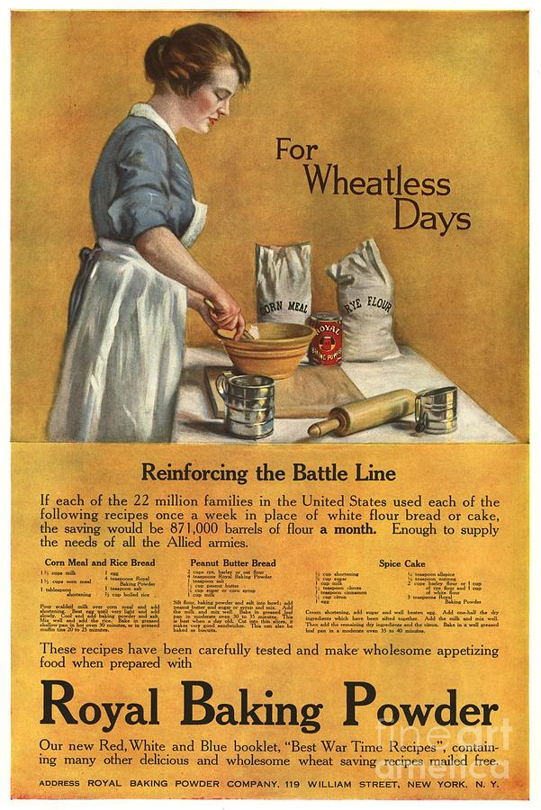 1910s Drawing -  1918 1910s Usa Cooking Royal Baking by The Advertising Archives