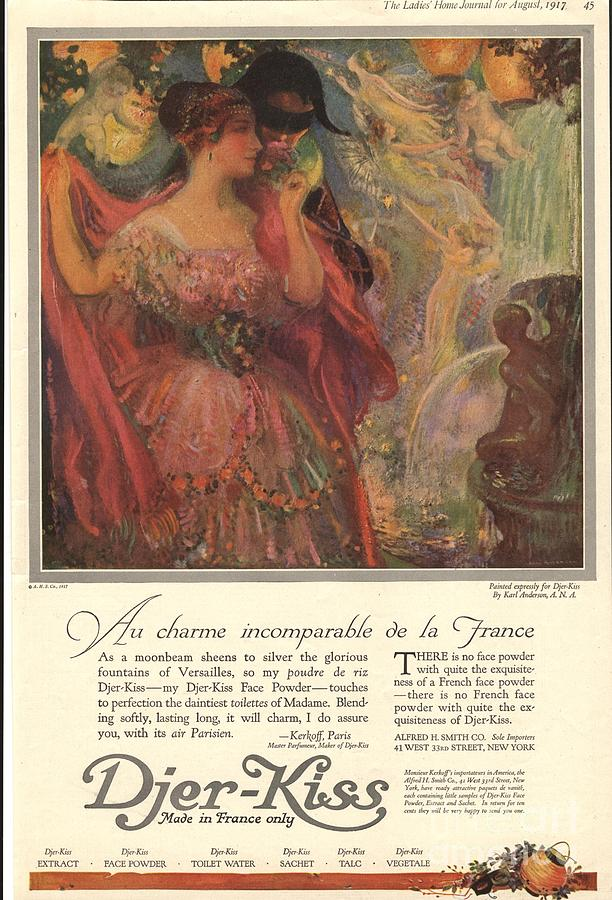 1910s Drawing -  1918 1910s Usa Djer-kiss Talcum by The Advertising Archives
