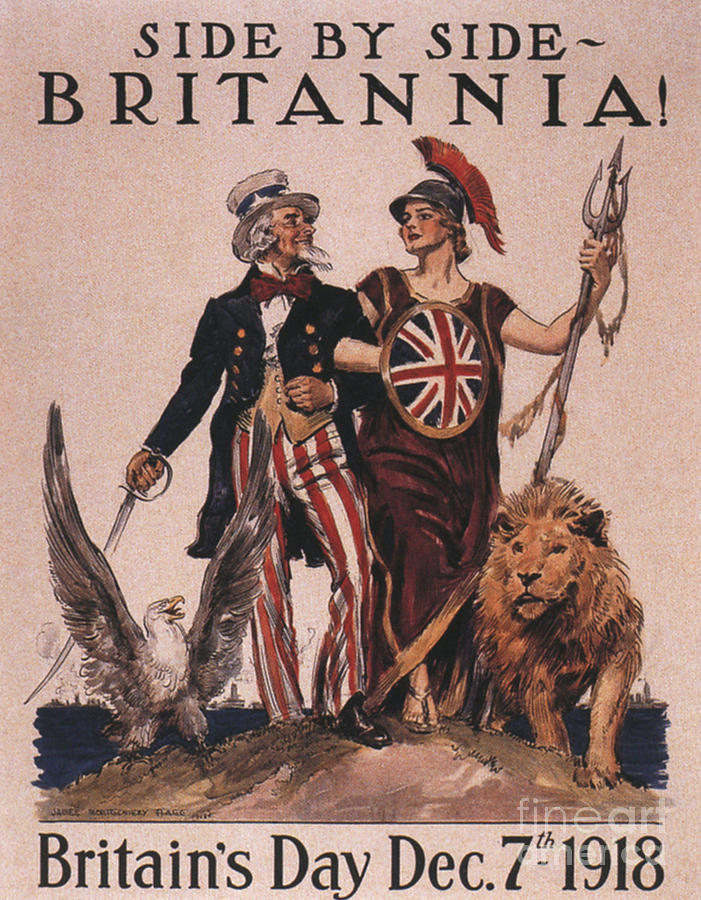 1910�s Drawing -  1918 1910s Usa Uncle Sam Ww1  Lions by The Advertising Archives