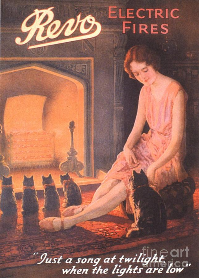 1920s Drawing -  1920s Uk Fires Cats Revo  Appliances by The Advertising Archives