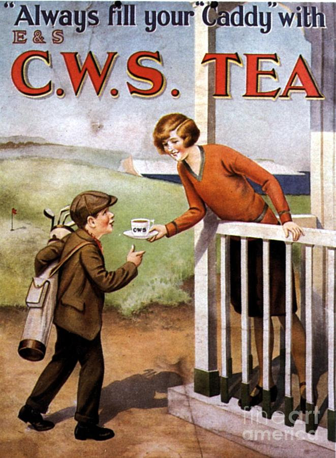 1920s Drawing -  1920s Uk Tea Golf Cws by The Advertising Archives