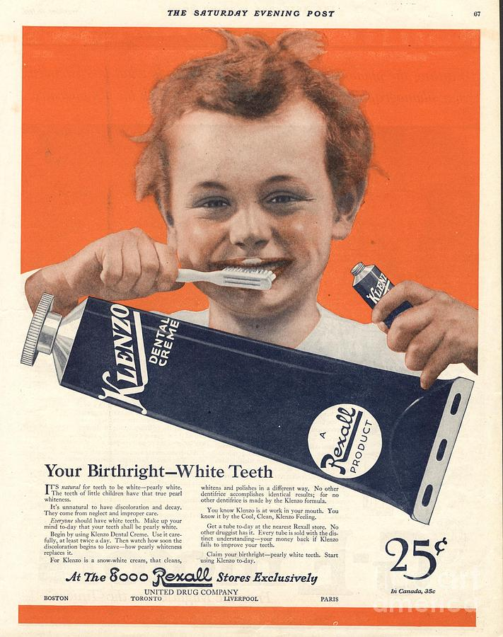 1920s Usa Klenzo Toothpaste Drawing by The Advertising
