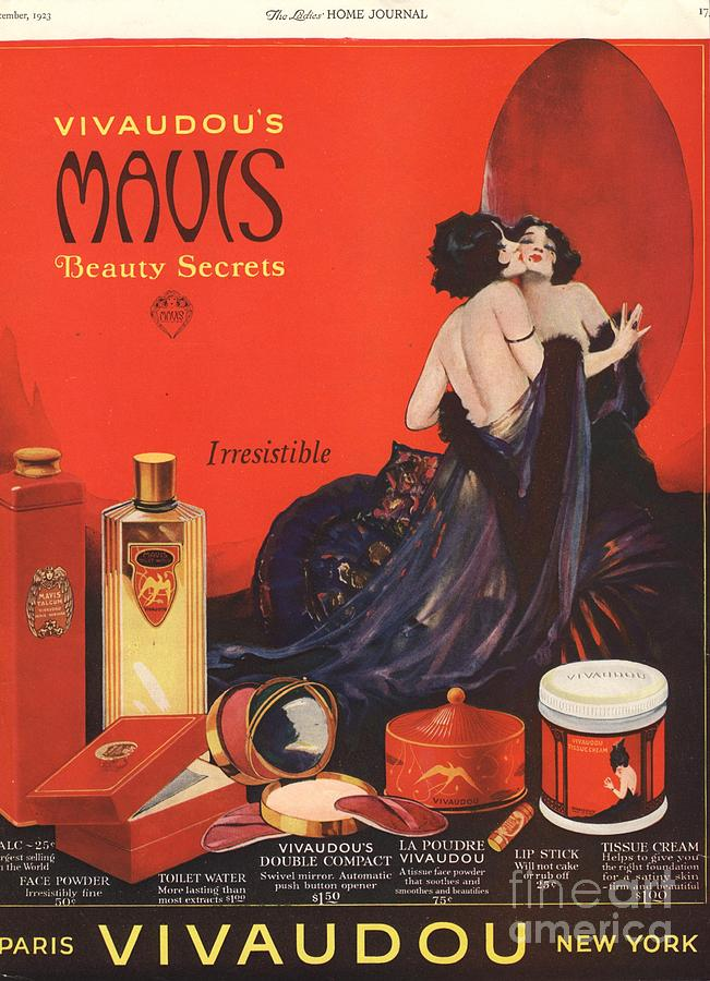 1920s Usa Make-up Makeup Skin Care Drawing by The ...
