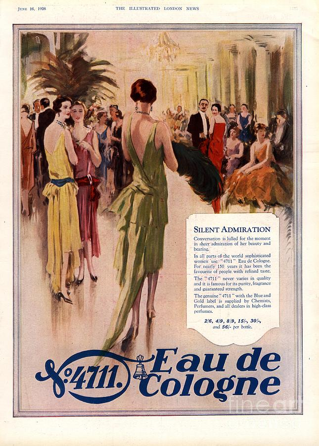 1920s Drawing -  1928 1920s Uk 4711 Eau De Cologne by The Advertising Archives
