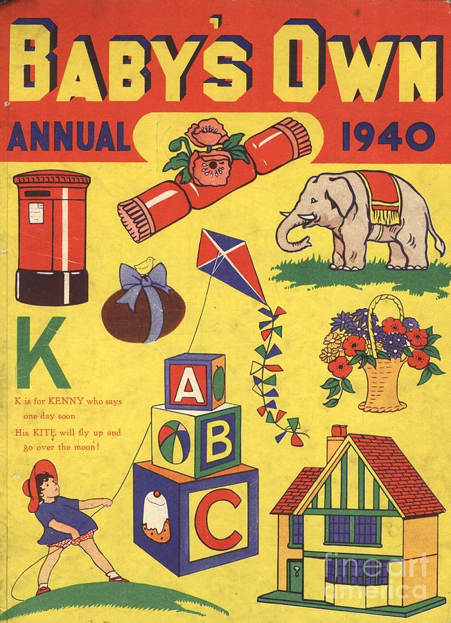 1940s Drawing -  1940 1940s Uk Babies Own Annuals S by The Advertising Archives