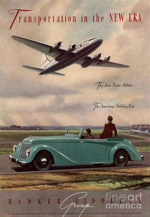 1940s Drawing -  1940s Uk Aviation Hawker Siddeley Cars by The Advertising Archives