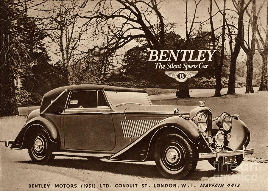 1940s Drawing   1940s Uk Bentley Sports Cars By The Advertising Archives