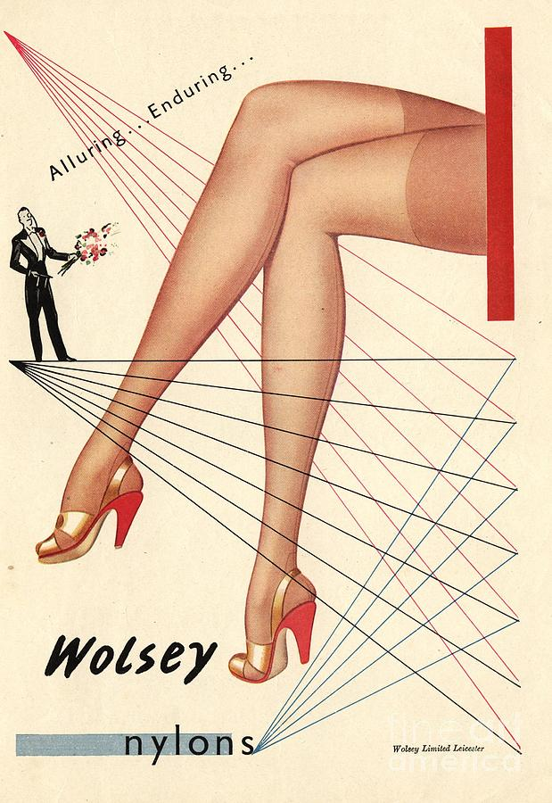 1940s Drawing -  1940s Uk Wolsey Womens Hosiery by The Advertising Archives