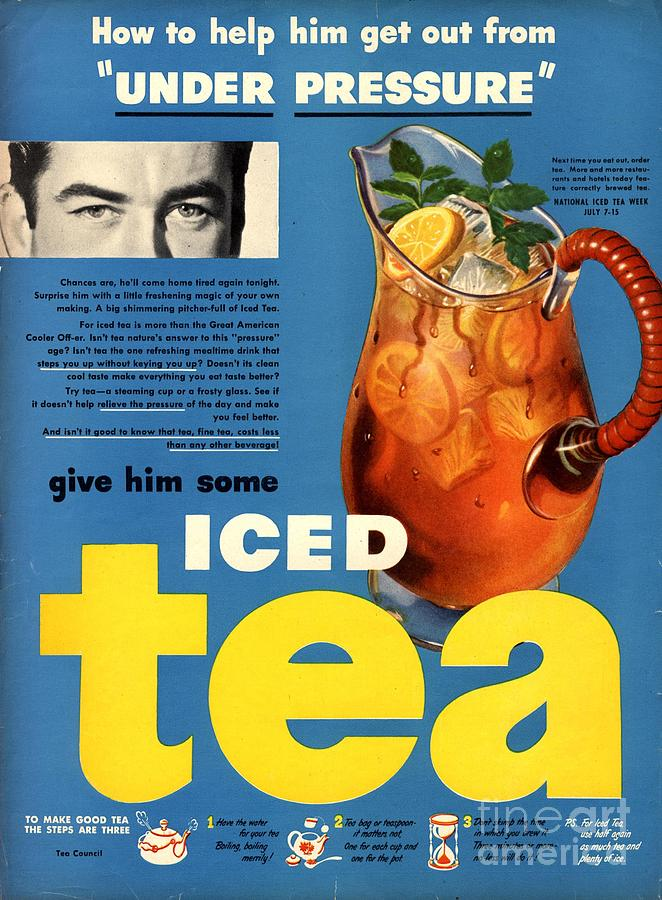 1950s Drawing -  1950s Usa Iced Tea by The Advertising Archives