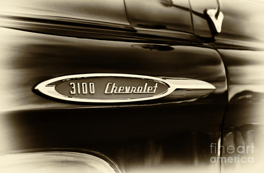 Chevrolet 3100 Photograph -  3100 Chevrolet Truck Sepia by Tim Gainey