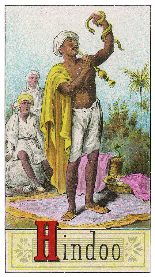 Racial Drawing -  A Hindu Snake Charmer by Mary Evans Picture Library
