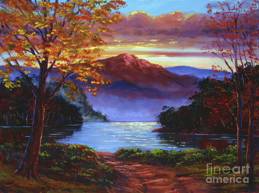 Landscape Painting -  A Moment Of Softness by David Lloyd Glover
