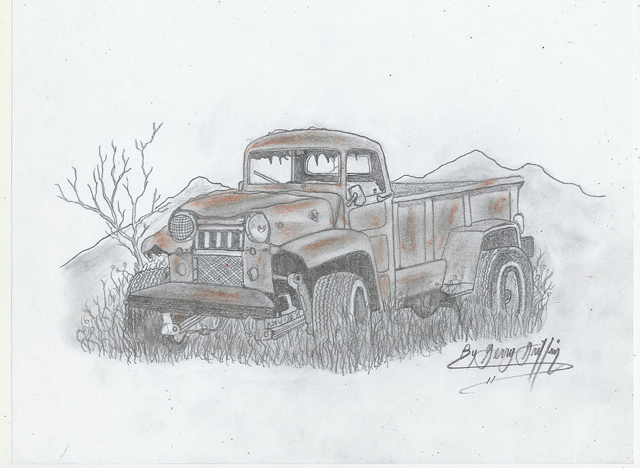 Rustic Truck Painting -  A Rustic Old Truck by Gerald Griffin