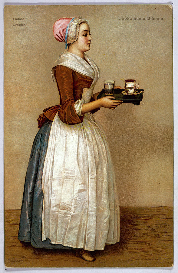 A Serving Maid Carries A Cup Drawing by Mary Evans Picture Library