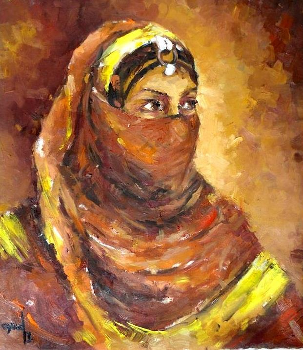 Portrait Painting -  A Woman by Negoud Dahab