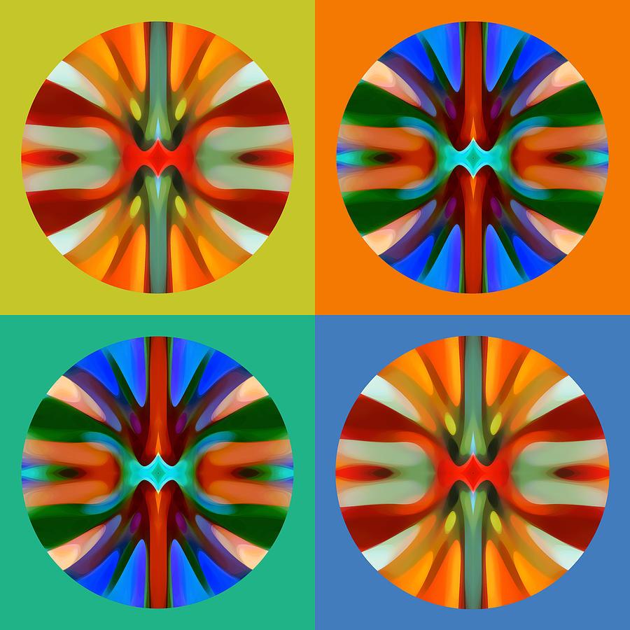 Abstract Painting -   Abstract Circles And Squares 2 by Amy Vangsgard