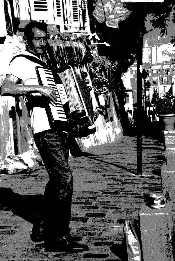 Accordionist Photograph -  Accordioniste by Jacqueline M Lewis