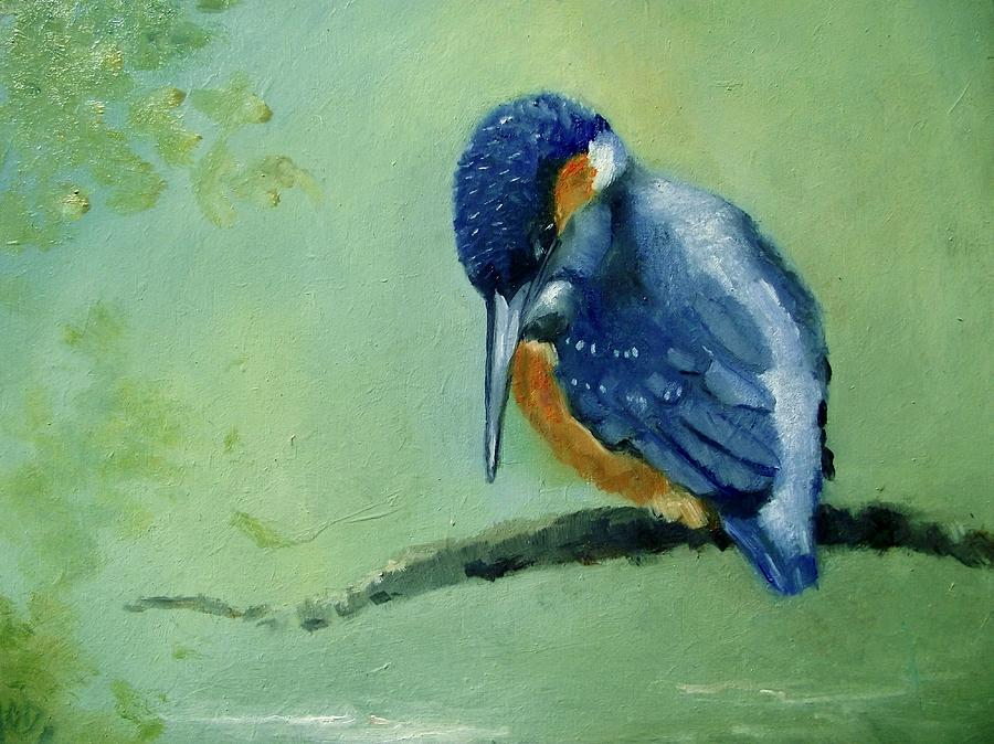 Birds Painting -  Ahh Dinner by Ken Parkes