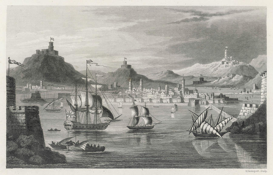 Algiers Drawing -  Algiers  Viewed From The Sea by Mary Evans Picture Library