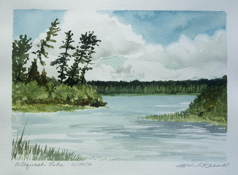Allequash Lake Painting by Helen Klebesadel