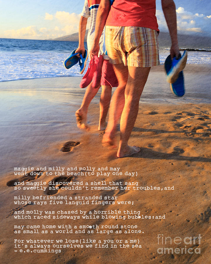 Barefoot Photograph -  Always Ourselves We Find In The Sea by Edward Fielding