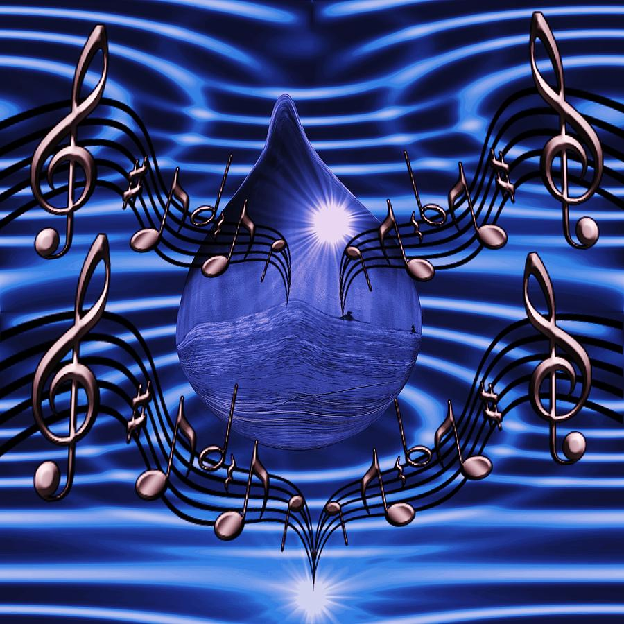 Angelic Digital Art -  Angelic Sounds On The Waves by Barbara St Jean