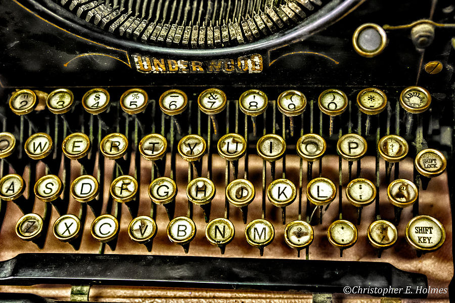 Christopher Holmes Photography Photograph -  Antique Keyboard by Christopher Holmes