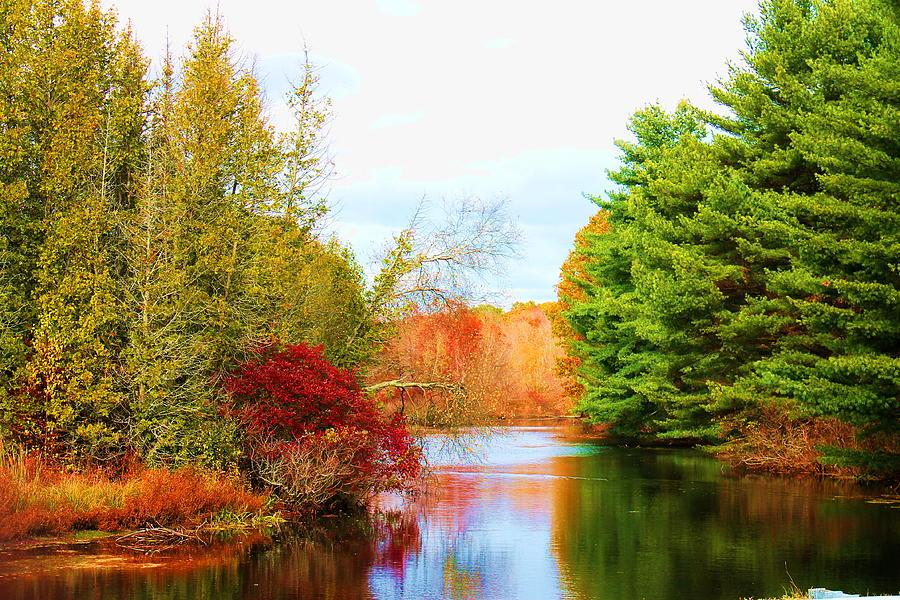 Landscape Photograph -  Aspetuck River Easton Ct by Norberto Medina Jr